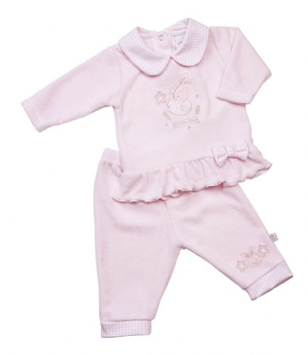 Little Star velour Sleepsuit top & trouser set